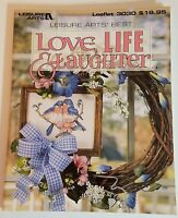 Leisure Arts Best LOVE, LIFE & LAUGHTER Leaflet Booklet 3030 Cross Stitch