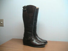 Womens 8 M FRYE Dorado 77581 Brown Leather Buckle Riding Boots, MSRP $648.00