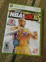 Kobe Bryant NBA 2K10 (Microsoft Xbox 360, 2009) COmplete w/Manual CIB Pre-Owned