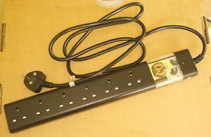 Tacima 6-Way Mains Conditioner with Surge Protection - Black (CS947)