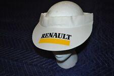 Vintage 80's White Renault Visor Hat French Automobile Promo Item