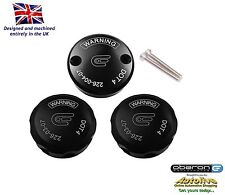 Oberon Performance Black Aprilia Reservoir Cap Set RES-0003/0004-BLACK