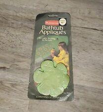 Vintage 70s NEW Rubbermaid Green Flower Bathtub Appliques 14