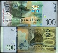 ST. THOMAS & PRINCE 100 DOBRAS 2016 / 2018 P NEW DESIGN SAO TOME UNC