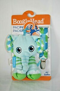 BooginHead PaciPal ~ PaciGrip Pacifier Clip ~ Elephant ~ 2 Piece Set ~ New