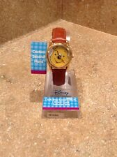 Disney Winnie The Pooh Wrist Watch Leather Band Womens #MU0324 Rare Find New