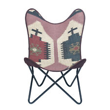 Handmade Butterfly Rugged Canvas Chair, Butterfly Chair Handmade Cover
