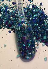 glitter mix acrylic gel nail art    BIT 0' MINT