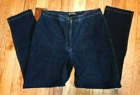 Jones Jeans Women's Stretch Size 14 Petite Straight Leg Dark Rinse Denim Blue