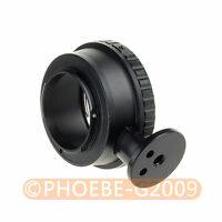 Nikon G AF-S F Lens to Micro 4/3 M4/3 Mount Adapter with Tripod Mount GF7 GF3 G3