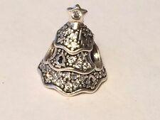 Authentic Pandora Twinkling CZ Christmas Tree Silver Charm 791765