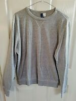 """H&M MENS GREY SWEATSHIRT TOP SIZE SMALL LONG SLEEVE PIT TO PIT 21 LENGTH 26 """""""