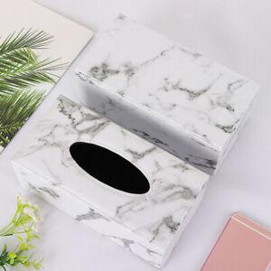 Marble Tissue Box Napkin Holder Tissue Box Cover Holder Desk Box Container