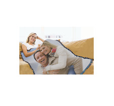 Woven Photo Blanket Large 100% Cotton Throw Full Color Afghan