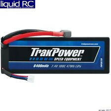 TrakPower C0720 LiPo 2S 7.4V 6400mAh 100C Hard Case Star Plug