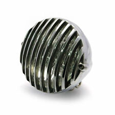 "4 1/2"" 12V 35W  small Polished Alloy Grill Headlight Custom Bike Custom  Project"