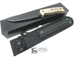 "Ontario Knife Company OKC RAT-7 Tan Micarta Handle 7"" Fixed 1095HC Steel Blade"