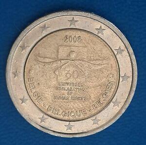 2 euro Belgique Belgien Belgium 2008 Declaration human rights