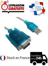 CABLE CORDON ADAPTATEUR CONVERTISSEUR 1M USB VERS DB9 SERIE RS232 RS-232 MALE