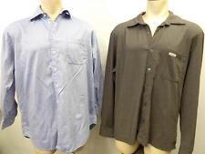 LOT OF 2 mens NAUTICA - CALVIN KLEIN Long sleeve B/U SHIRT XL X LARGE CLEAN