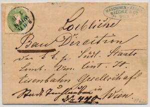 ÖSTERREICH 1862 3Kr, grün, ORTSBRIEF (Inhalt) WIEN. Schön, attraktiv!
