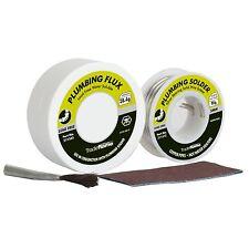 Tradeflame SOLDER & PLUMBING FLUX KIT LeadFree,3mm Silver Bearing Wire*AUS Brand