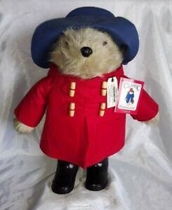 "18"" 1998 Original Paddington Bear  ~ Blue Hat, Red Coat, Black Boots ~ Eden"