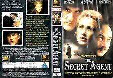 THE SECRET AGENT VHS PAL BOB HOSKINS,CHRISTIAN BALE,PATRICIA ARQUETTE RARE 90'S