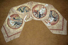 Chefs Delight~ Chefs on Bicycles Tapestry Table Runner