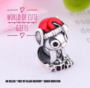 🖤🎀 LILO AND STITCH Charm Disney Cute European Silver Tone *Gift Wrapped*