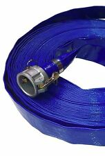 "2"" x 100m Roll Blue Layflat PVC Water Delivery Discharge *Hose Only*"