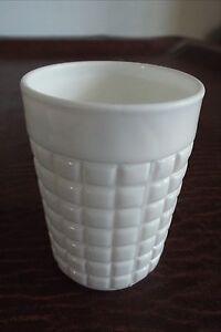 Atterbury White Waffle Pattern Atterbury Glass Tumbler 1880
