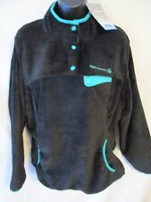 Free Country Polyester XXL Black Pull Over Butter Pile Fleece Jacket SR$75 NEW