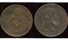 BRESIL  20  reis   1869  ( 1 )   ( bis )
