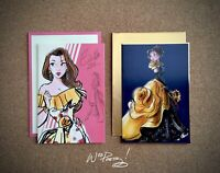 2018/2019 Disney Designer Collection BELLE Art Note Card Premier Masquerade