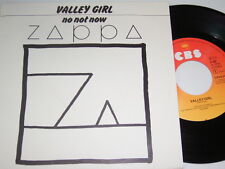 "7"" - Frank Zappa Valley Girl & No not now - MINT 1982 # 1543"