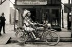 1920s Indian Motorcycle Dealership PHOTO Shop, Native American Indian Chief