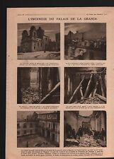 WWI Palacio Real de La Granja de San Ildefonso Espana/La Piave 1919 ILLUSTRATION