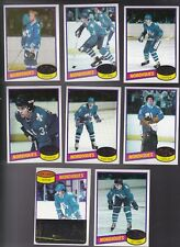 1980 / 81 Topps Team SET lot of 8 Quebec NORDIQUES NM+ CLOUTIER FTOREK GOULET