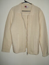 VINTAGE Ladies JM Collection by Jennifer Moore Cream 100% Wool Cardigan Sweater