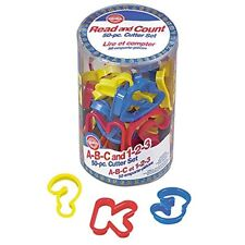 Wilton 50-piece ABC and 123 Cookie Cutter Set
