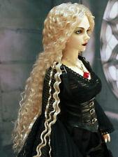 """1/3 bjd 9-10"""" doll head blonde long wig Soom ID Feeple 65 #W-JD220SM202XL"""