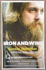IRON AND WINE 2007 Gig POSTER Portland Oregon Concert