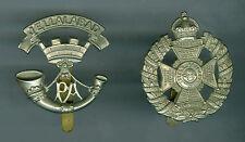 2 Vintage British Somerset Infantry Jellalabad Hat & Waterloo & Peninsula Badges