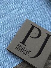 Phillip Jeffries item number 7335 Vinyl Basketry Soft Blue 14 Yards