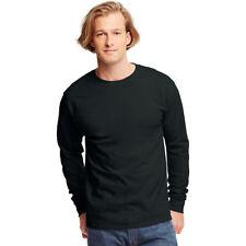 Hanes Tagless Long Sleeve T-shirt 5586 - Black Size XL