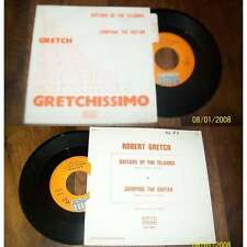 ROBERT GRETCH - Guitars Of The Island French PS 7' Library Surf Rock W/Languette
