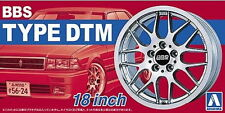 Aoshima Models 1/24 18inch BBS DTM Wheels and Tyres Set (4 Wheels + 4 Tyres)