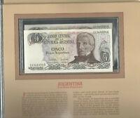 Most Treasured Banknotes Argentina 5 Pesos 1983 - 1984 UNC P 312a Consecutive #