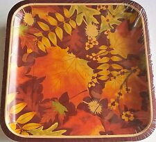 FALL/THANKSGIVING Luncheon Paper Plates DAMASK LEAVES 50 ct 9 ...  sc 1 st  eBay & Damask Paper Party Plates | eBay